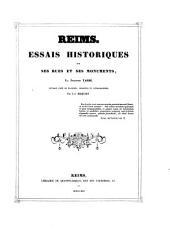 Reims: essais historiques sur ses rues et ses monuments par ...