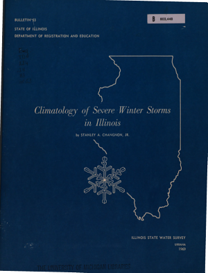 Climatology of Severe Winter Storms in Illinois
