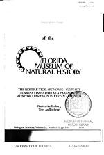 Bulletin of the Florida Museum of Natural History