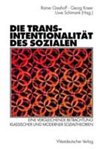 Die Transintentionalit  t des Sozialen PDF