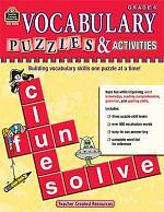 Vocabulary Puzzles & Activities, Grade 6