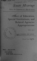 Office of Education and Related Agencies for Fiscal Year 1972  Hearings Before     92 1  on H R  7016 PDF