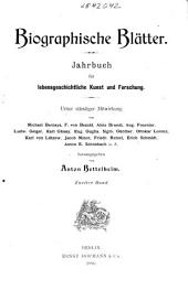 Biographische Blätter: Band 2