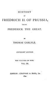 History of Friedrich II  of Prussia Book