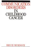 Communication Disorders in Childhood Cancer PDF