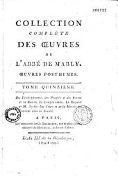 Collection complète des oeuvres de l'Abbé de Mably.... (précédées d'un Eloge historique). (par l'Abbé Brizard): Volume1