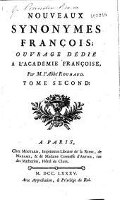 Nouveaux synonymes françois ... par M. l'abbé Roubaud
