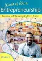 World of Work  Entrepreneurship PDF
