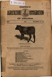Bulletin - Virginia Department of Agriculture and Immigration: Issue 112
