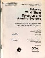Airborne Wind Shear Detection and Warning Systems  Fourth Combined Manufacturers  and Technologists  Conference  Part 1 PDF
