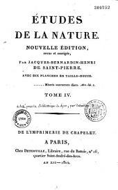 Etudes de La Nature: Volume1