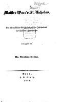 Maistre Wace s St  Nicholas PDF