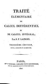 Traité élémentaire de calcul différentiel et de calcul intégral