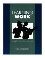 Learning to work   making the transition from school to work  PDF