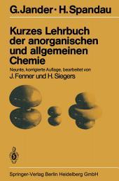 Kurzes Lehrbuch der anorganischen und allgemeinen Chemie: Ausgabe 9