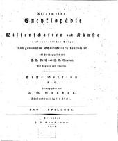Allgemeine Encyclopädie der Wissenschaften und Künste in alphabetischer Folge: Erster Section: A-G, Band 35