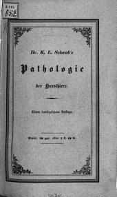 Lehrbuch der allgemeinen Pathologie der Hausthiere