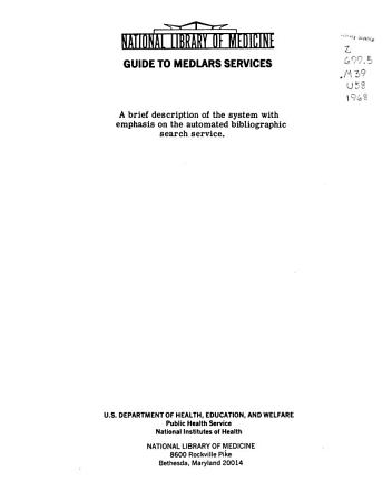Guide to MEDLARS Services PDF