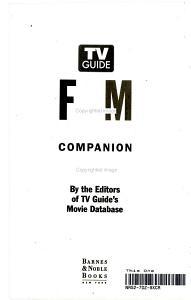 TV Guide Film   Video Companion Book