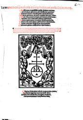 Clementinaru[m] materia cu[m] capitulorum et titulo[rum] numero