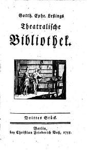Theatralische Bibliothek: Volumes 3-4