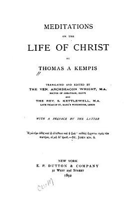 Meditations on the Life of Christ PDF