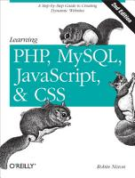 Learning PHP  MySQL  JavaScript  and CSS PDF