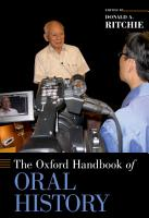 The Oxford Handbook of Oral History PDF