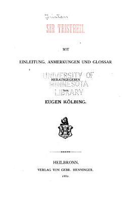 Sir Tristrem PDF