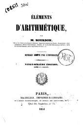 Eléments d'arithmétique par M. Bourdon