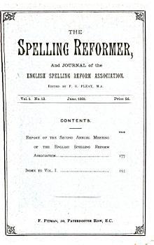 The Spelling reformer  ed  by F G  Fleay  July 1880 June 1881 PDF