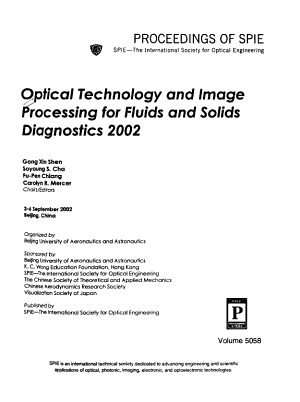 Optical Technology and Image Processing for Fluids and Solids Diagnostics 2002 PDF