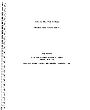 Index to U S  EPA Test Methods PDF