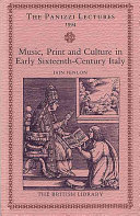 Music  Print and Culture in Early Sixteenth century Italy PDF