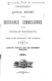 Annual Report of the Insurance Commissioner of the State of Minnesota: Part 2
