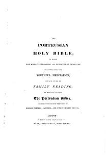 The Holy Bible     Stereotype Edition   With the    Porteusian Index    Prefixed   Book