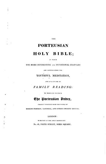 The Holy Bible     Stereotype Edition   With the    Porteusian Index    Prefixed   PDF