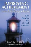 Improving Achievement in Low Performing Schools PDF