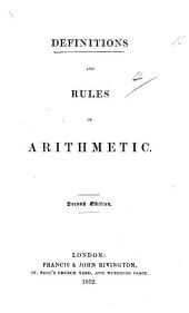 Definitions and Rules of Arithmetic. Second edition