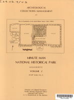 Archeological Collections Management at Minute Man National Historical Park  Massachusetts PDF