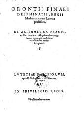 De arithmetica pratica libri quatuor. Ab ipso authore uigilanter recogniti, multisque accessionibus recens locupletati