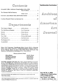 Archives of American Art Journal PDF