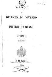 Collecção das decisões do governo do Imperio do Brazil de 1866 [-1878]: Volume 3