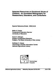 Selected Resources on Emotional Abuse of Children PDF