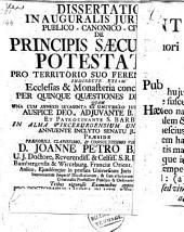 De principis saecularis potestate, pro territorio suo ferendi leges ,,,: 17 Maart 1738