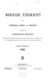 Nordisk tidskrift för vetenskap, konst och industri: Volym 4