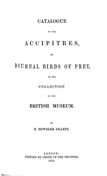 Download Catalogue of the Birds in the British Museum Book
