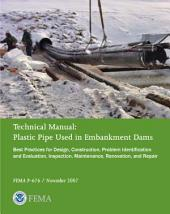 Technical Manual: Plastic Pipe Used in Embankment Dams