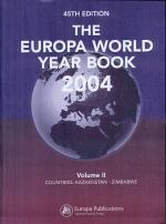 The Europa World Year Book 2004