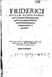Friderici Navseae ... in libru[m] Tobi[a]e Enarrationes